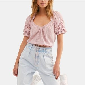 *NEW Free People Pink Top